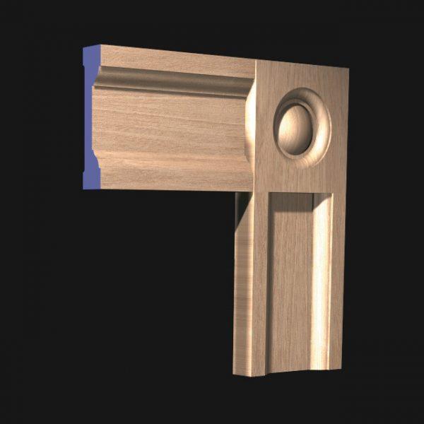 CRB Corner Block: to match Architrave Type 120-0