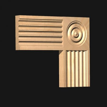 CRH Corner Block: to match Architrave Type 67-0
