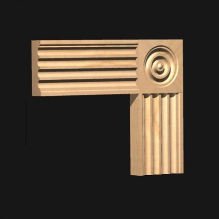 CRJ Corner Block: to match Architrave Type 67a-0