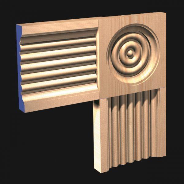 CRL Corner Block: to match Architrave 62-0