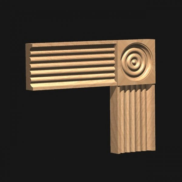 CRM Corner Block: to match Architrave 63A-0