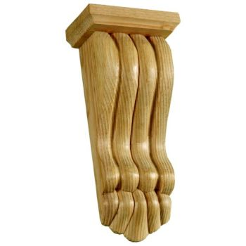 393 - Medium Victorian Reeded Fireplace Corbel with Capping