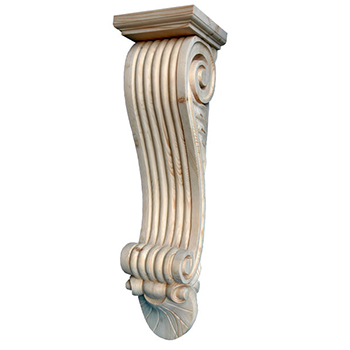794 - XXL Reeded Corbel with Capping